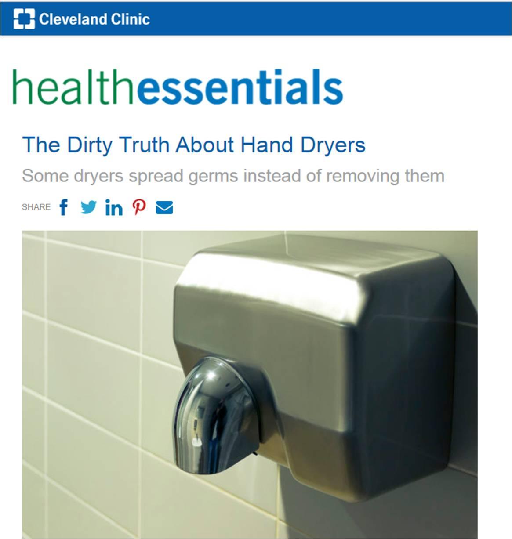 risco de secar as mãos