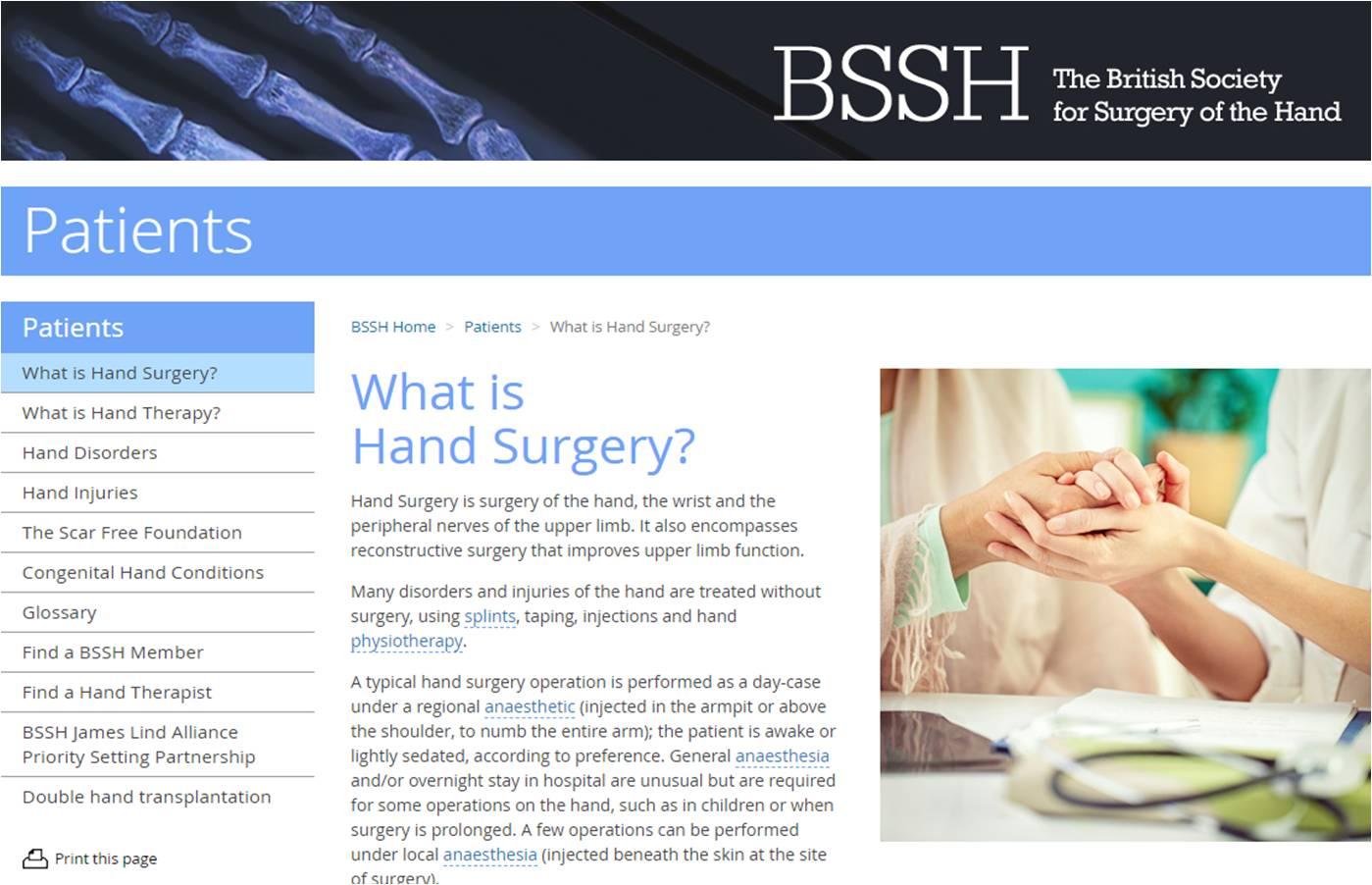 O que é cirurgia da mão